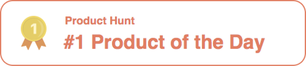 Trickle Product Hunt Badge - Product of the day